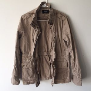 Khaki Cotton Field Utility Jacket